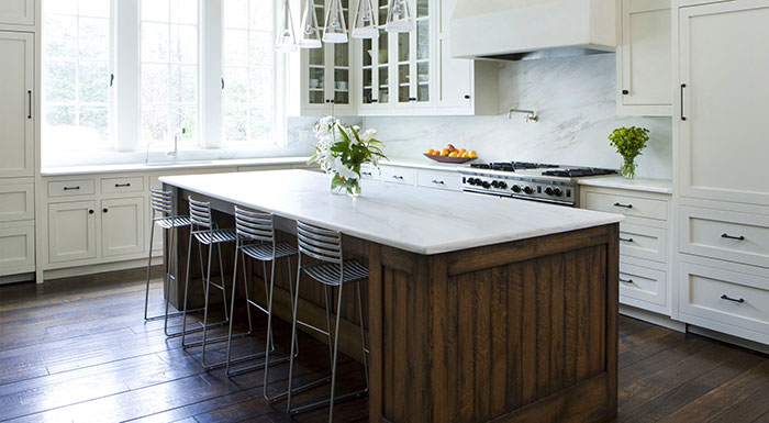 White Kitchen Countertop Sample